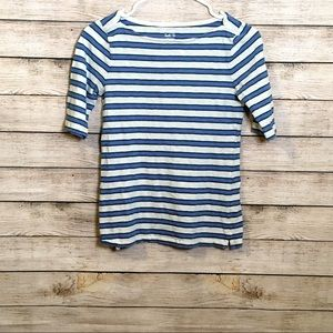 J. Crew Classic Painter Boatneck Striped Tee Small